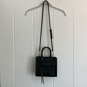 Rebecca Minkoff Black Mini MAB Tote Crossbody Bag
